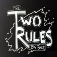 Two Rules logo B&W invert square